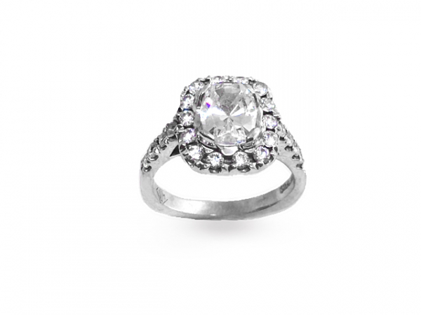 Dana Halo Semi-Mount Engagement Ring by John Wade