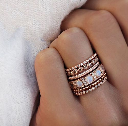 Hot Bridal Trend 2018 Stacked Engagement Rings Wade Designs Blog